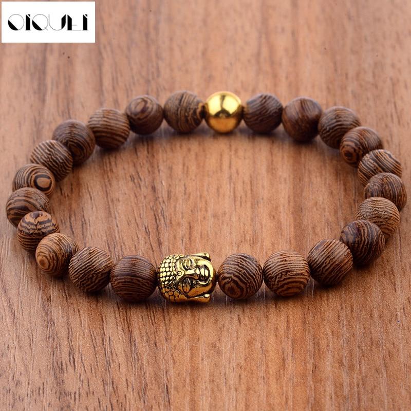 Oiquei 2018 Buddhist Prayer Metal Buddha Beaded Bracelets