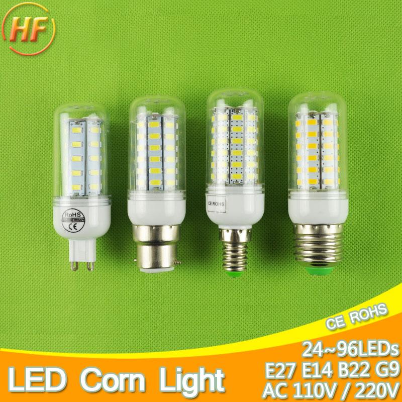 B22 E14 E27 LED Lamp 110v 220v LED corn bulb Spotlight SMD 5730 lampada led lamparas 5W 7W 9W 12W 15W 18W 20W Warm Cold white new bright 30w 40w 50w 60w e27 ac85 265v cold white warm white smd5730 corn bulb led corn light led bulb spotlight lamps