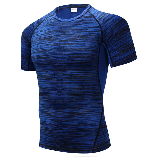 NANSHA Brand Gyms Compression T-Shirt Workout Crossfit T Shirt Fitness Tights Casual Shirts Quick Dry  Short Sleeves T-Shirts