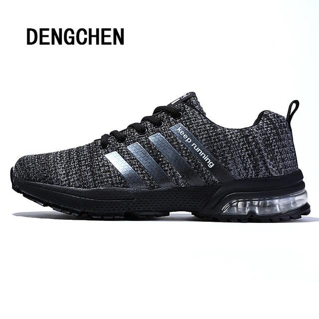 af20bef2 Venta caliente zapatillas para correr para hombre 2018 zapatillas de marca  transpirables de malla de aire