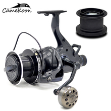 CAMEKOON Baitfeeder Spinning Reel 10KG Max Drag 7+1 Ball Bearings Dual Brake System Carp Catfish Fishing