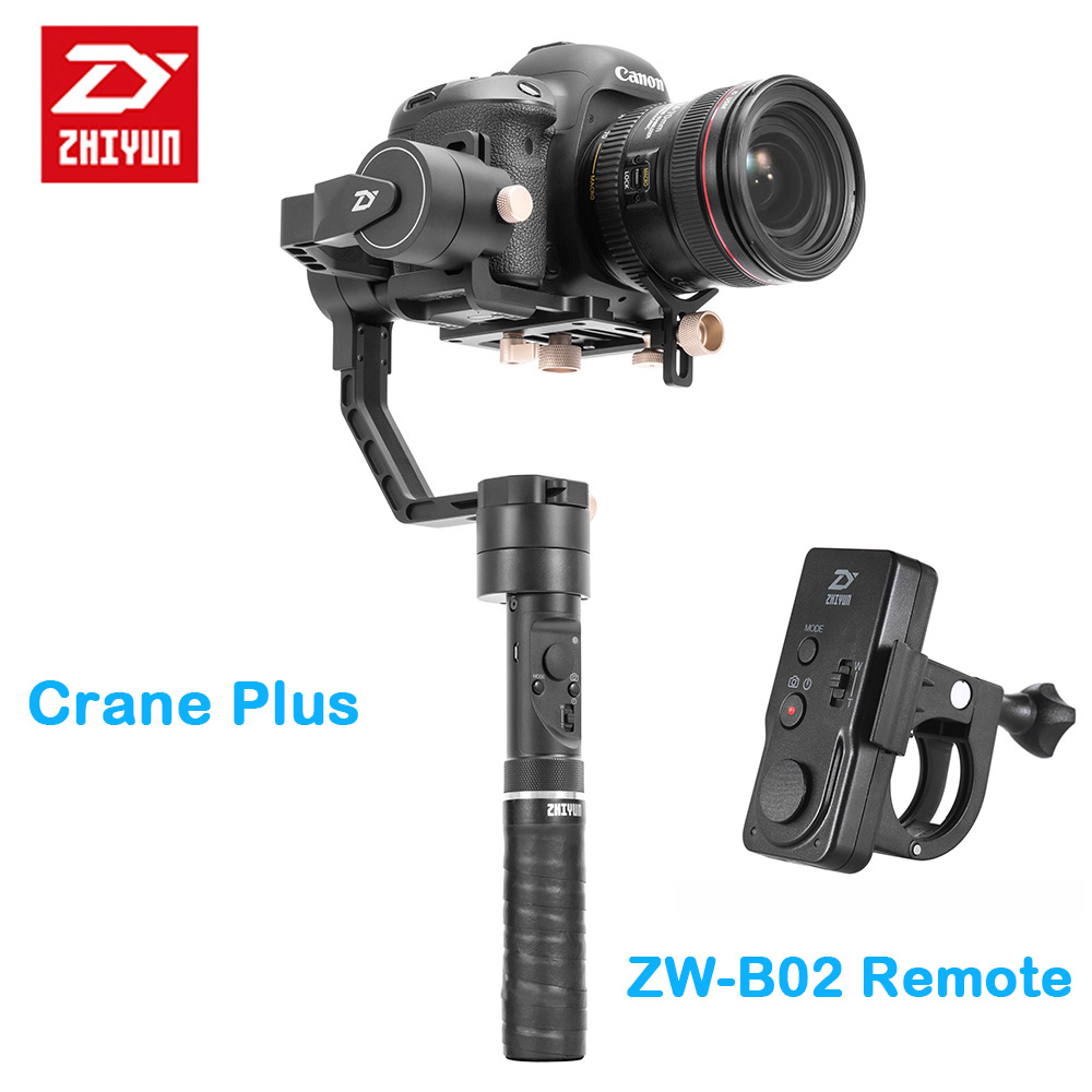zhi yun Zhiyun Crane Plus 3-Axis Handheld Gimbal Camera Stabilizer POV Mode for Canon Sony Nikon Mirrorless DSLR Camera viltrox yb 3m 3m professional extendable aluminum alloy strong camera video crane jib arm stabilizer for canon nikon sony dslr