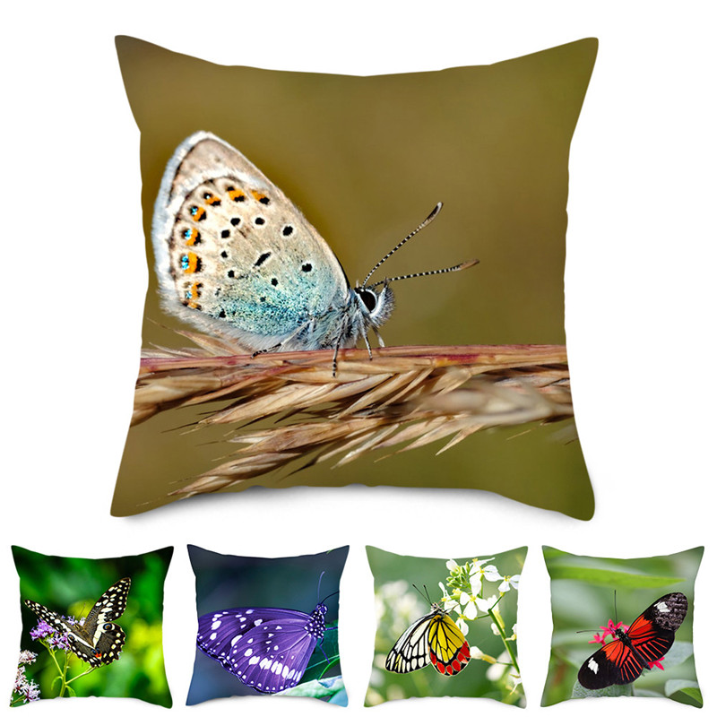 Fuwatacchi Butterfly Pillow Cover Throw Pillows For Sofa Throw Pillows Home Cushion Cover For Car Home Room Decorative Pillows in Cushion Cover from Home Garden