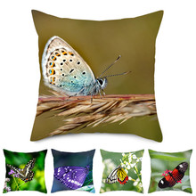 Fuwatacchi Butterfly Pillow Cover Throw Pillows For Sofa Throw Pillows Home Cushion Cover For Car Home Room Decorative Pillows цены
