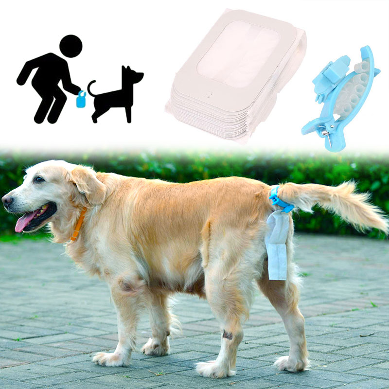 20pcs Pet Dog Toilets Holder Waste Bag Soft Silicone Supplies Cleaning Tool Collection D ...