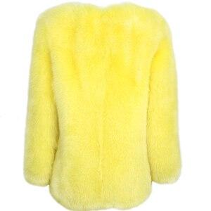 Image 3 - Donne reale della pelliccia del cappotto della signora del cappotto di pelliccia naturale inverno pelle pieno di volpe cappotto di pelliccia