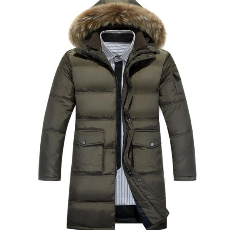 d66a3f85b9565 2018 white duck down winter jacket men s thickening casual warm nagymaros  collar jacket winter hooded brand coat parkas Size