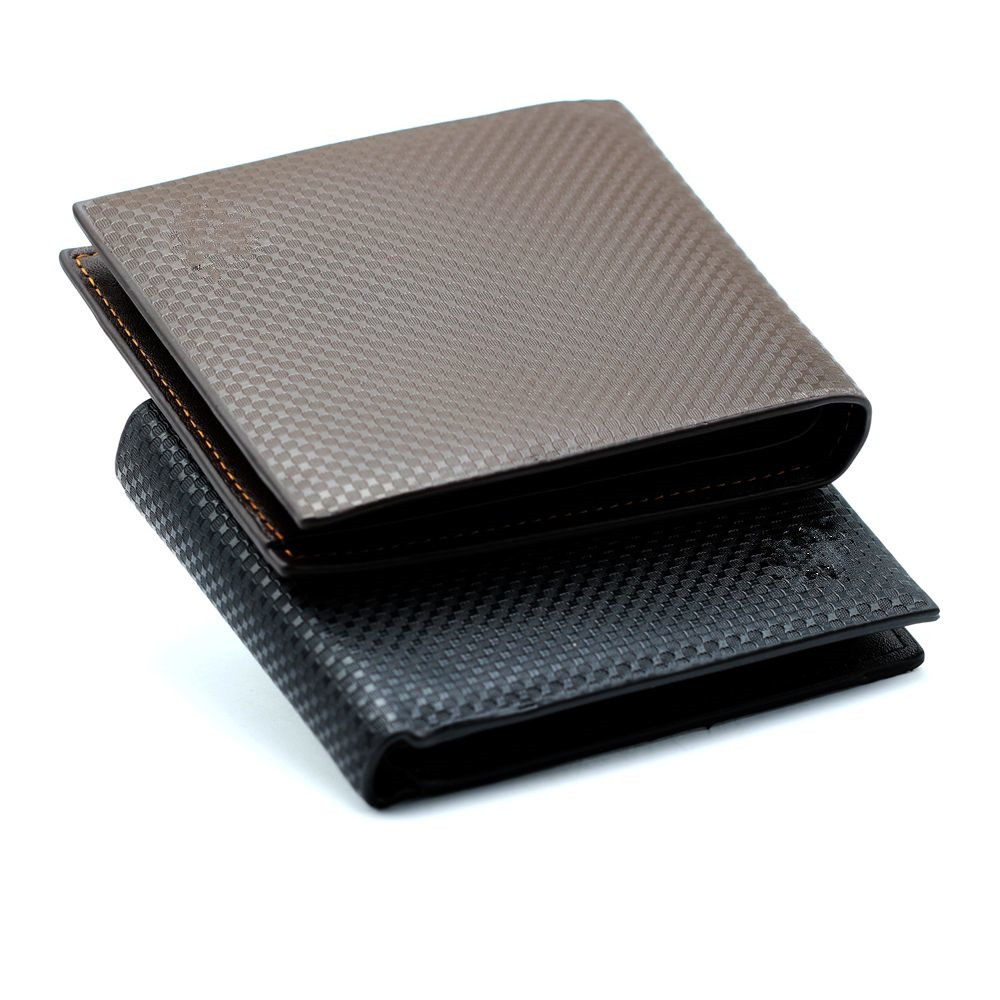 Luxury Black Tri-fold Card Holder Leather Wallet for Men and Women Gift For him