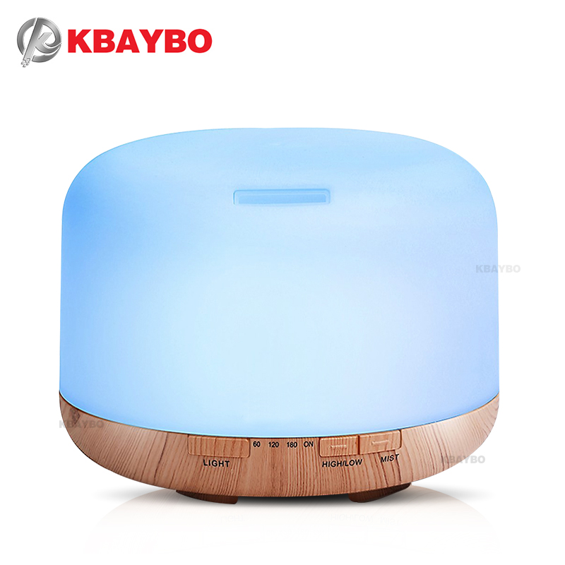 500ml Air Humidifier Essential Oil Diffuser Aroma Lamp Aromatherapy Electric Aroma Diffuser Mist Maker for Home-Wood essential oil diffuser 500ml air humidifier aroma lamp aromatherapy electric ultrasonic cool mist aroma diffuser mist maker