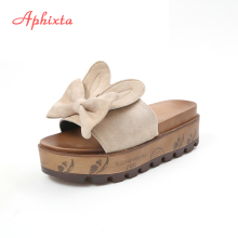 womens Summer Wedge Slippers Platform High Heels