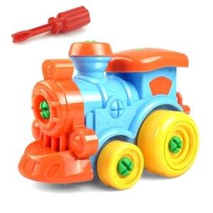 Image 5 - DIY פירוק עם מברג התאסף צעצועי ילדי רכבת מכונית צעצוע מטוס רכב אבני בניין דגם כלי חינוכי צעצוע