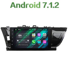 "Android 7.1.2 Quad Core 2 Din 10.1"" 2GB RAM LCD Touch screen car GPS Radio Player for Toyota Corolla 2014-2015 (Left Driving)"