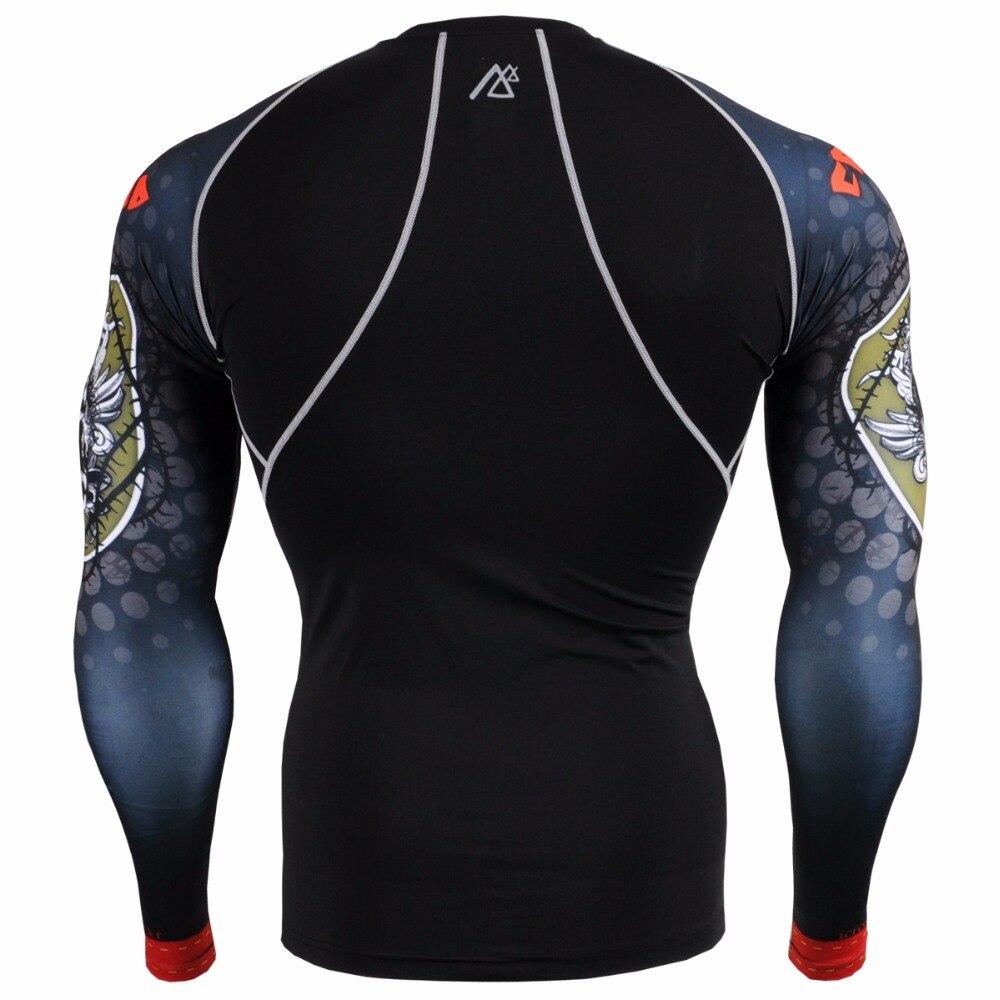 Leben auf der spur herren Sportswear Hauteng Compression Shirts & Strumpfhosen Set Fitnesstraining MMA Workout Fitness Bekleidung Set - 4