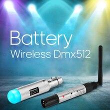 Dmx512 מקלט משדר עם סוללה Dmx אור אלחוטי 2.4 2.4GISM 500 m מרחק תקשורת מקלט מוסיקה DJ מועדון דיסקו