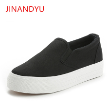 White Sneakers Woman Flat Black Canvas Shoes Women Loafers 2019 Spring New Casual Platform Comfortable Flats
