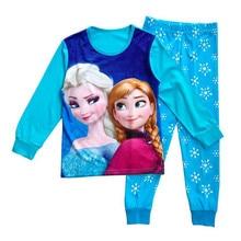 Детская пижама эльза анна костюм дети одежда устанавливает рождественские подарки для детей пижамы девушки одежда roupas infantis menina