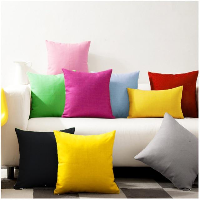 30x45 45x45 50x50 60x60cm Solid Color Cotton Canvas Pillowcase Sofa Large Cushion Covers