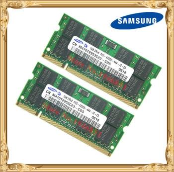 סמסונג זיכרון הנייד 2 GB 2x1 GB מחשב נייד DDR2 PC2-4200 533 MHz RAM 533 4200 S 1 גרם פינים SO-DIMM