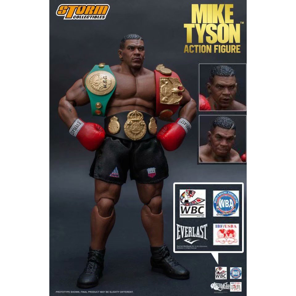3 Head Face Storm Toys Boxing Tyson Boxing Boxer Champion Mike Tyson Action Figure Collectible Model Toys