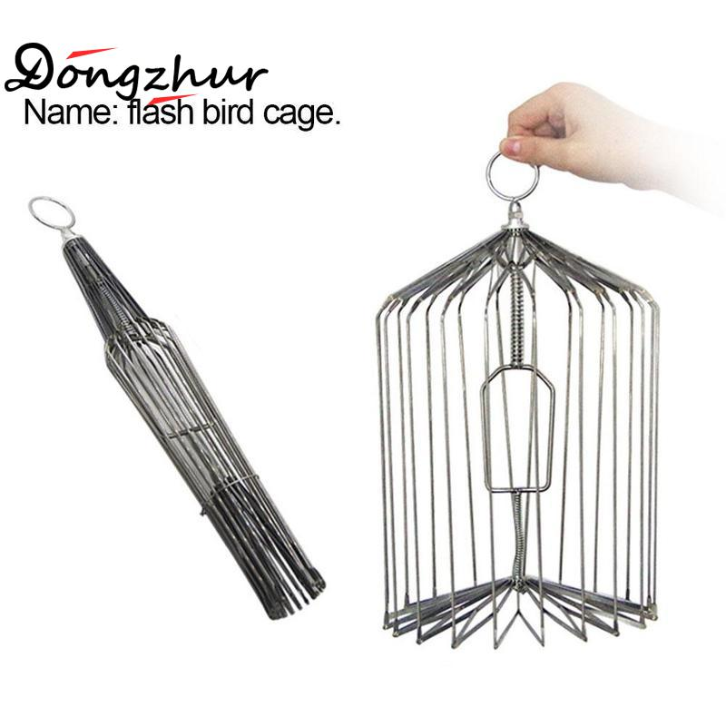 Dongzhur Dove Cage Stage Magic Tricks Magia Toy Professional Magie Silver Flashing Birdcage Small Size Magic Tricks Gimmicks