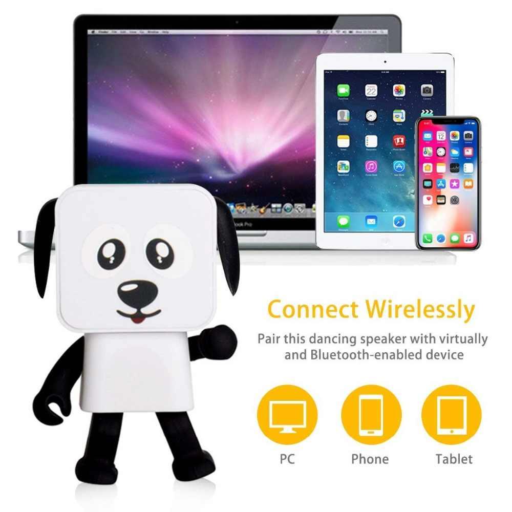 Portable Wireless Bluetooth Speaker Cartoon Dance Robot Dog Sound Box Phone Computer Mini  Blue tooth Speaker Puppy Boombox