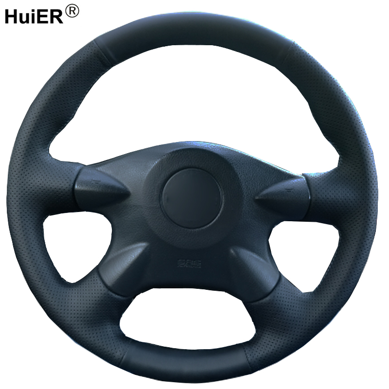 Main À Coudre Voiture couvre Volant Volant Pour Nissan Almera N16 Pathfinder Primera Paladin X-trail Pour Renault Samsung SM3