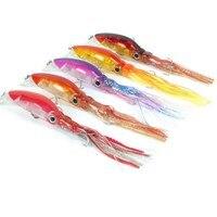 5pc/set Fishing Lures 12cm 22g Plastic Artificial Bait Fishing Lure Minnow Fishing Squid Lure 5Colors