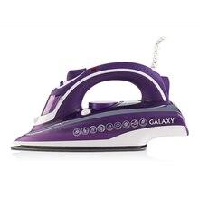 Паровой утюг Galaxy GL 6115 (мощность 2400 Вт, вертикальное отпаривание, керамическая подошва, автовыключение, защита от накипи, функция самоочистки, в комплекте мерный стакан)