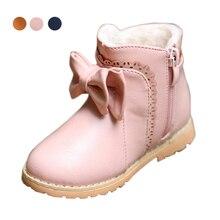 Мода детей сапоги девочек сапоги дети pu кожаные теплые мягкий хлопок принцесса мартин сапоги boetie обувь