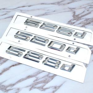 Image 4 - עבור Bmw 5 סדרת E39 E60 E61 F10 F11 חדש 520d 525d 528d 530d 535d 550d אחורי אתחול Trunk מכתבי תג סמל