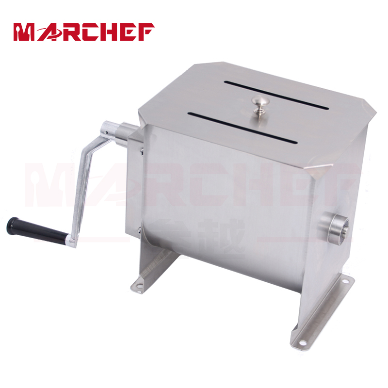 22L Stainless Steel Commercial Manual Meat Sausage Mixer Machine on Sale glantop 2l smoothie blender fruit juice mixer juicer high performance pro commercial glthsg2029