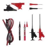10pcs Multimeter Needle Tip Probe Test Leads 4mm Banana Plug Alligator Clip Kit