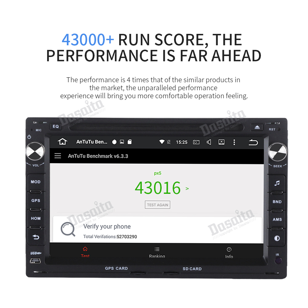 "Cheap Dasaita 7"" Android 9.0 Car GPS Radio DVD Player for Passat(MK5) Jetta Golf Transporter with Octa Core 4GB+32GB Stereo Multimedia 17"