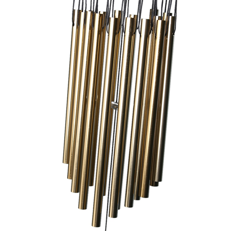 65cm Large 16 Tubes Solid Wood Retro Copper Alloy Wind Chime Chinese Style Mascot Pendant Outdoor Wind Chimes Garden Pipes Bell in Figurines Miniatures from Home Garden