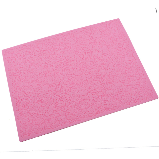 Rose Silicone Mold Lace Mat Fondant Mould Cake Decorating Tool Chocolate, Gumpastes Mold, Sugarcraft Kitchen Accessories