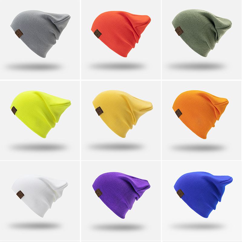 b6e2cf1501e 2018 New Winter Hats Unisex Women s CC Beanie Cotton Solid Warm Hot Sale  HIP HOP Knitted
