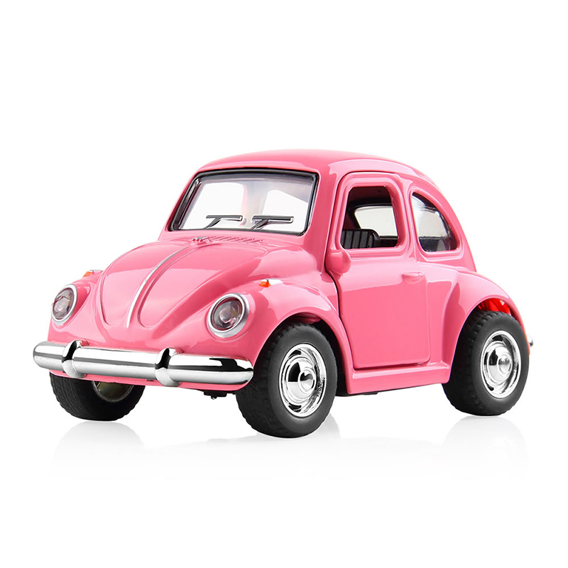 цена на DODOELEPHANT 1:38 Alloy Car Toy Pull Back Diecast Metal Pink Car Model Toys For Children Gift Girls Kids Birthday Brinquedo Gift