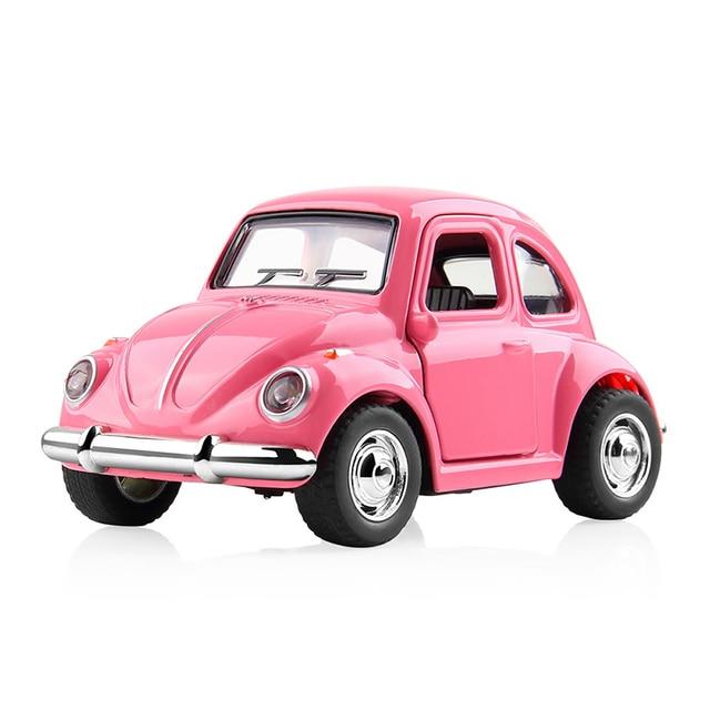 Dodoelephant 1 38 Alloy Car Toy Pull Back Diecast Metal Pink Car