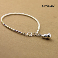 High Quality bells 925 Stamped sterling silver bracelet 925 pure silver chain genuine solid silver bracelet For Women Jewelry