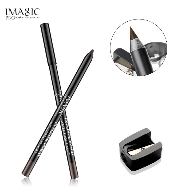 IMAGIC Professional Makeup Artist Eyeliner Pencil Durable Waterproof Eyeliner Eye Makeup Makeup Tool Fashion Brown Permanent in Eyeliner from Beauty Health