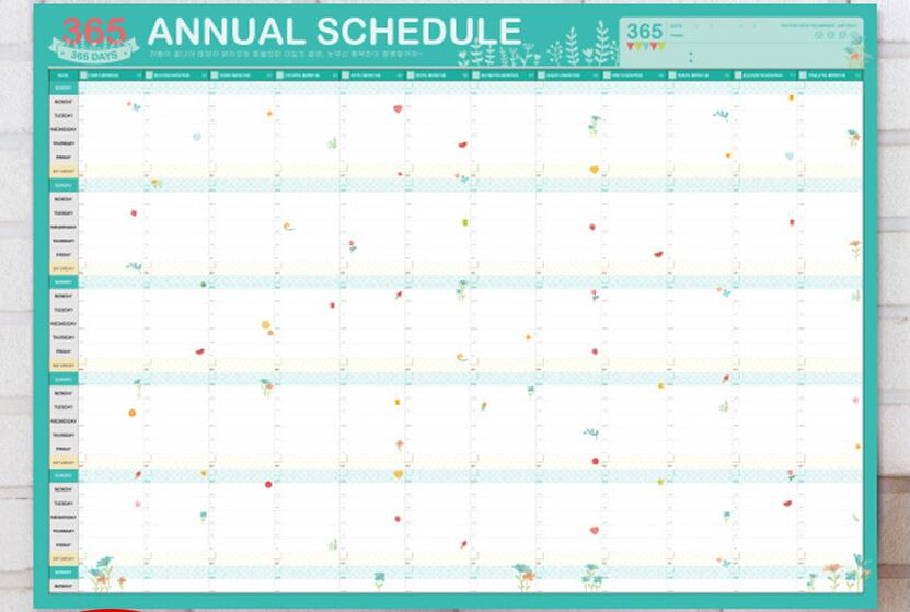 diy 365 annual schedule post 6043cm mint agenda table planner paper 1 piece in notebooks from office school supplies on aliexpresscom alibaba group