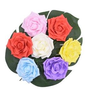Image 5 - 10 個 10 センチメートル大泡バラ人工の花ウェディングパーティーの装飾diy花嫁のブーケスクラップブッキングクラフト偽花 8