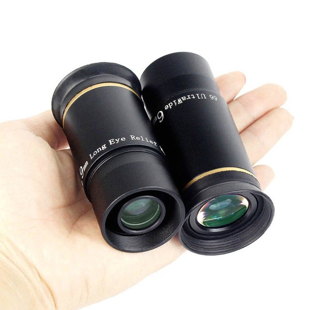 """Oculaire AQUILA 1.25 """"6mm/9mm UWA Ultra grand Angle 66 degrés entièrement multi-enduit pour télescope astronomique"""