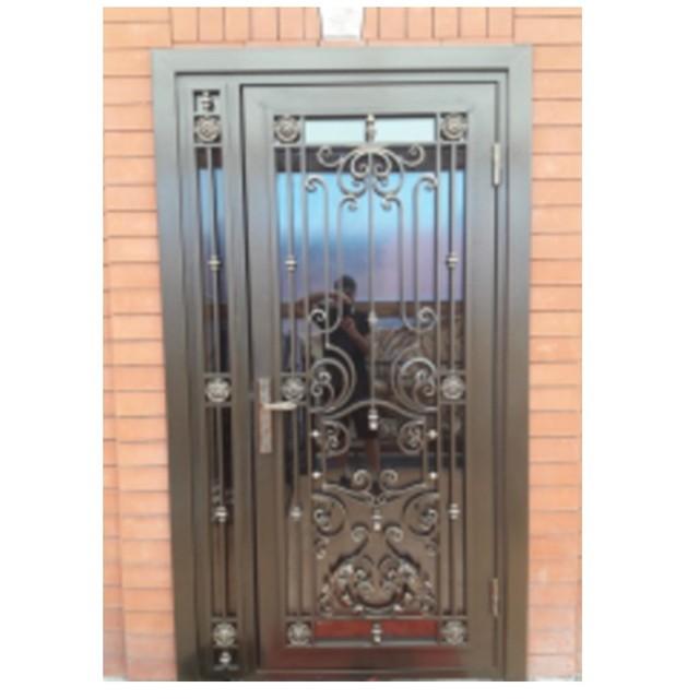 Vidrio doble puerta de entrada de metal de lujo de doble - Puertas de metal ...