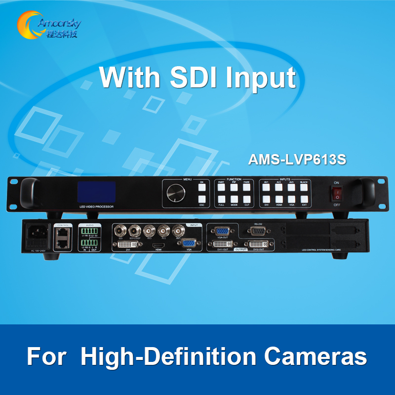 best price AMS-LVP613S led screen scaler sdi video processor for outdoor advertising led display like vdwall ledsync820h