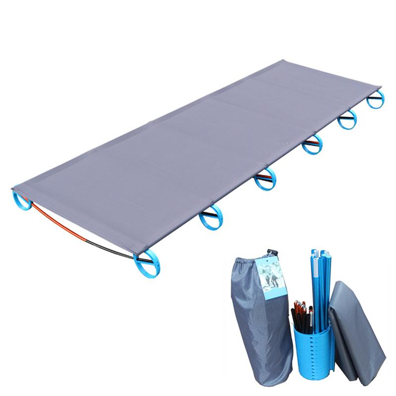 Prix pour HOT! Camping Tapis Ultra-Léger Robuste Confortable Portable Unique lit Pliant Lit de Camp Dormir En Plein Air Avec Cadre En Aluminium