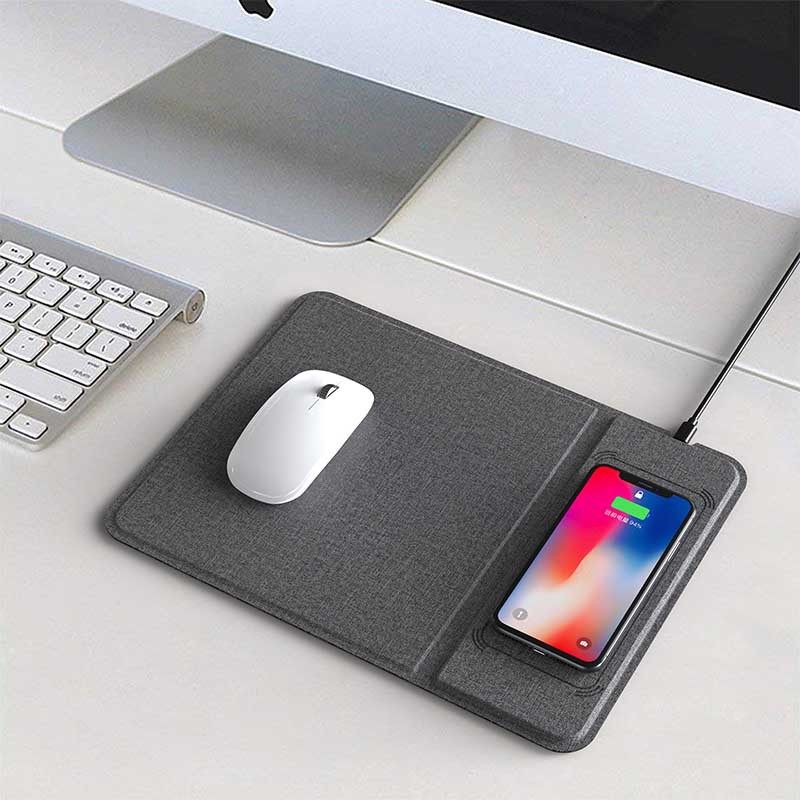Jeu multifonction tapis de souris Ultra-mince avec chargeur sans fil 5/10 W pour téléphone - 2
