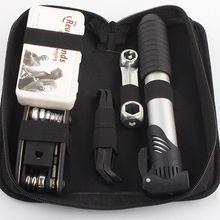 High Quality Bicycle Repair Tool Set Portable Bike Repair Kit with Saddle Bag Bike Mini Pump