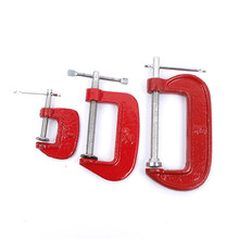 Adjust Heavy Duty G Clamp 1/2/3inch C/W Soft Jaw Pads 25mm -100mm Iron Red For Woodwork Metal Clamping