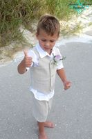 New 2015 Summer Beach Boys Wedding With Clothes With White Shirt Short Pants Vest Kids Tuxedo